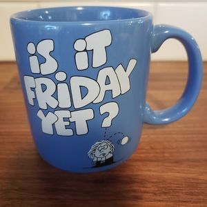 "Carlton Cards vintage ""is it Friday yet?"" Mug"